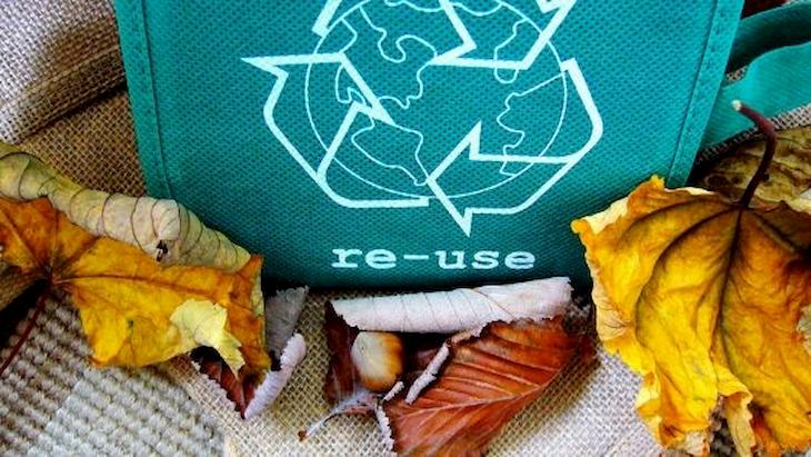 Re-use icon in a bag - What is circular economy