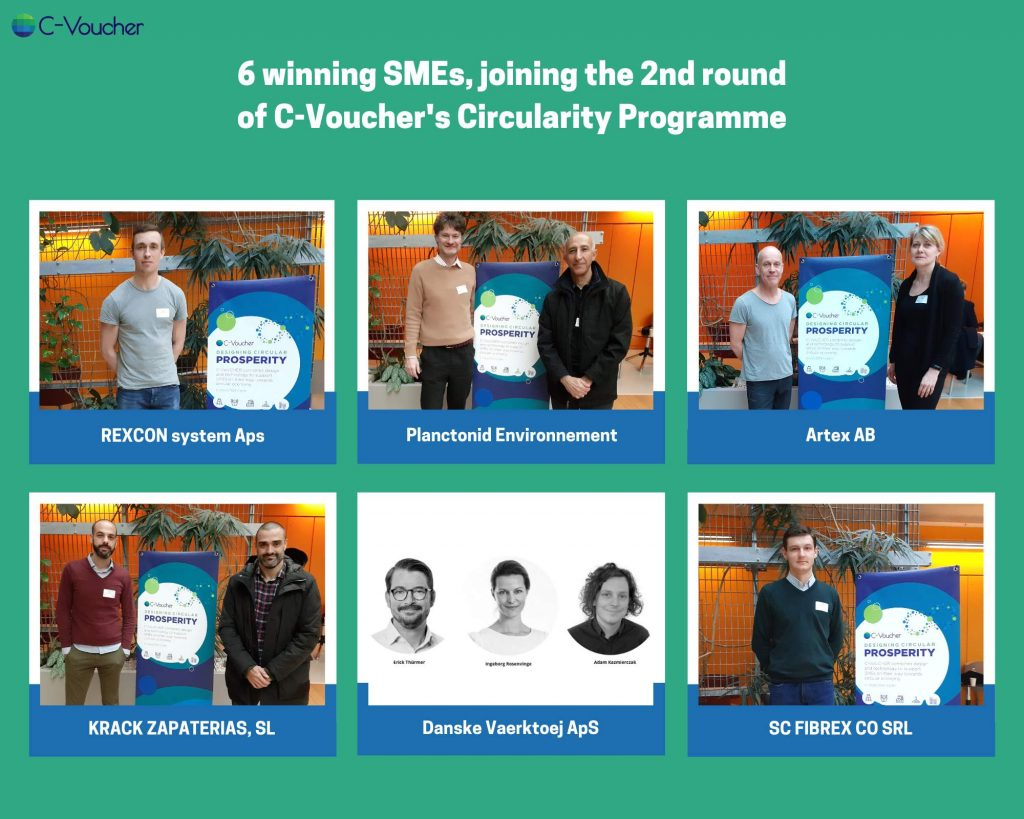 Winners of the second round of the C-Voucher Circularity Programme