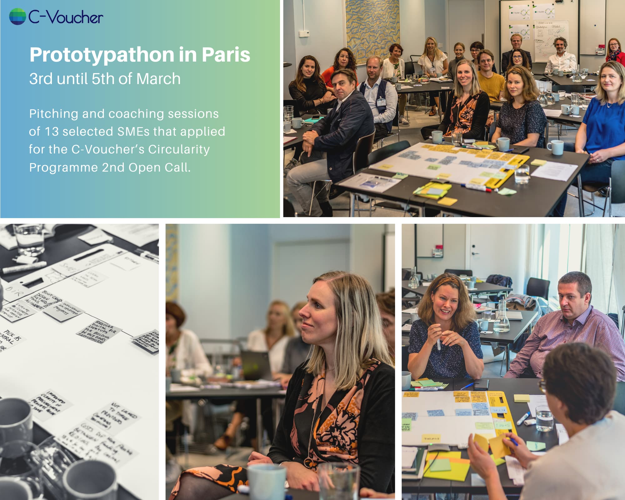 C-VoUCHER bootcamp in Paris, Prototypathon